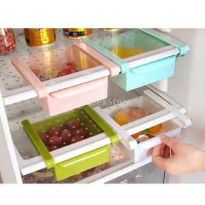 Lovoski 全4色選ぶ 収納ボックス 家庭用 台所対応 冷蔵庫 食品 新鮮な野菜室 ラック コンテナ  耐久性 ABS製  - 青い|stk-shop