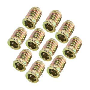 10個  挿入ナット ナット メスネジ 固定用 7サイズ選べ - M6 * 15|stk-shop