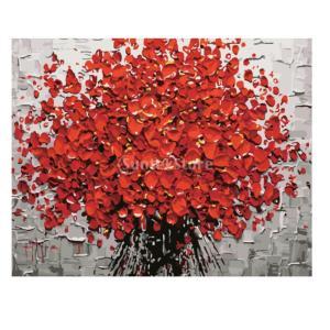 Fenteer 塗り絵 手塗り 新しい数字で手書きデジタル油絵  数字キットによる絵画 デジタル油絵  DIY  全15種類 - 赤いアートツリー