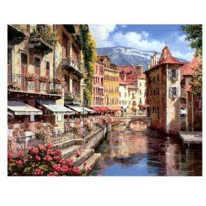 Fenteer 塗り絵 手塗り 新しい数字で手書きデジタル油絵  数字キットによる絵画 デジタル油絵  DIY  全15種類 - ロマンチックなフィレンツェ