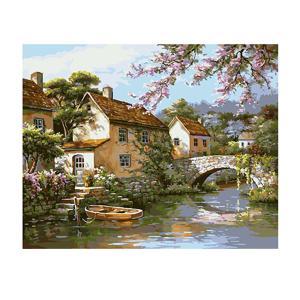 全14様式選ぶ デジタル油絵 数字 キャンバス 壁画 アートワーク 絵画 塗り絵 手塗り DIY絵 手作り 贈り物 - 様式2