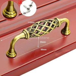 米欧風 鳥かご ドア プル ノブ キッチン ハンドル 渦巻き 家具 引き出し 128mm 全5種類 - 真鍮, 96mm|stk-shop