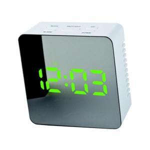 Baoblaze LED USB 目覚まし時計 長方形 デジタル アラーム 卓上 多機能  クロック 鏡面  全6色 - スクエア、グリーン|stk-shop
