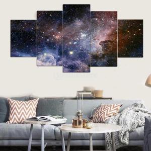 油絵 絵画 PVC  ポスター 宇宙テーマ 芸術 抽象的 贈り物 装飾品 5枚組み 全10種類 - 星空|stk-shop