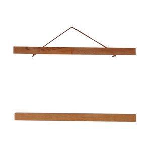 木製 ハンガー 額縁 フレーム ポスター 写真 吊り掛け 多パターン選べ - ティークウッド, 40cm|stk-shop