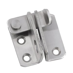 高品質 ステンレススチール製 ドア 留め金 ハスプ キャビネット ドアラッチ セキュリティ ロック留め金 2種選べる  - 左開き|stk-shop