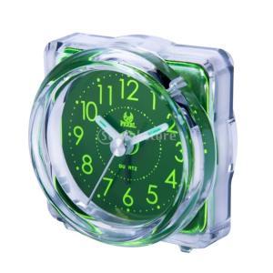 ミニサイズ クロック デスク 目覚まし時計 スヌーズ ナイトライト 多種選べる - 4#グリーン|stk-shop