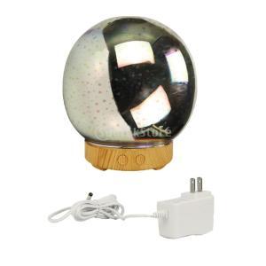IPOTCH 三次元 軽量 ガラス 加湿器 エッセンシャル オイルディフューザー 7色を変える 多種選べる - ラウンド - 花火, c|stk-shop