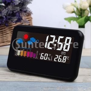 目覚まし時計 多機能時計 置き時計 カレンダー クロック 温度湿度 液晶 夜間視聴|stk-shop