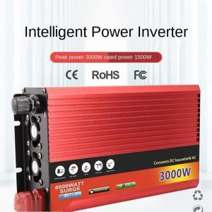 3000W純粋な正弦波パワーインバーターDC12V24VからAC220Vカープラグインバーターアダプ...