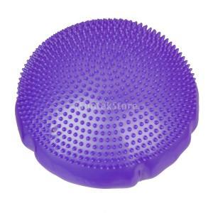紫色のヨガフィットネス安定性のディスクバランス足首、膝ボードエアクッションパッド