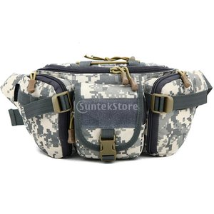 屋外ユニセックスウエストバッグ戦術的な軍事ウエストパックチェストバッグポーチACU|stk-shop