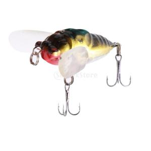 釣具ルアースネークヘッド低音キラー昆虫蝉の淡水餌 stk-shop