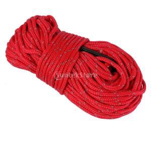 【ノーブランド 品】キャンプ 反射 テント 張り綱 ロープ ランナー ガイライン コード 赤|stk-shop