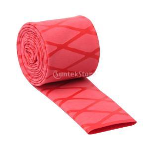 30ミリメートル滑り止め熱は赤いハンドル質感のグリップの魚ロッドラケット収縮チューブ|stk-shop