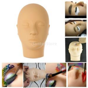 目を閉じマネキンヘッドマッサージメイクまつげエクステンション実践モデル|stk-shop