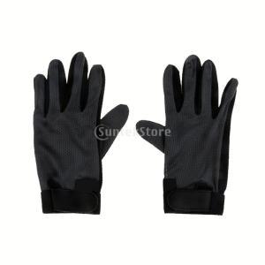 ノーブランド品 耐摩耗性 伸縮性 競争 乗馬 馬術 グリップ グローブ 手袋 4サイズ選べる - M