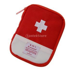 ノーブランド品キャンプ 旅行 救急袋 緊急 サバイバル キット ポーチ 2色2サイズ選べる - 赤, Sの写真