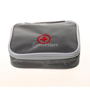 ノーブランド品  屋外 緊急 サバイバル 医療ケース 応急処置 キット バッグ 全4色 - グレー|stk-shop