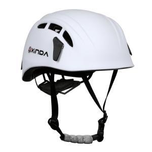 Fenteer 高品質 保護ヘルメット 登山 クライミング キャンプ アウトドア  防護帽  7色選択 洞窟探検 救援 ハーフドーム 快適  - 白|stk-shop