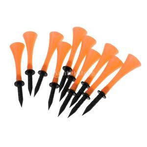 10個セット ゴルフクラブ ラバー製 ゴルフティー ゴルフボール用ティー 高さ83mm 全6色 - オレンジ|stk-shop