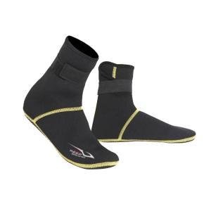 保暖 ネオプレン スイミング サーフィン ダイビング ソックス ウェットスーツ ブーツ 快適 全5サイズ - ブラック, XS|stk-shop