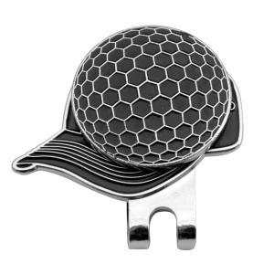 帽子パタン ゴルフ ハットクリップ付 マグネット ボールマーカー グリーンマーカー 4色選べる - ブラック|stk-shop
