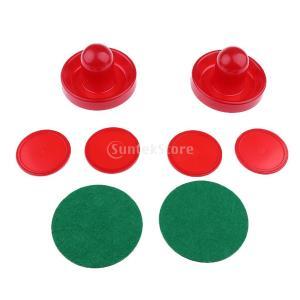 ノーブランド品  全2色3サイズ テーブル ゲーム エアホッケー プッシャー ストライカー ゴール パック - S, 赤