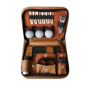 ゴルフバッグ ギフトセット ゴルフ ボール ティー ボールクリップ ゴルフ練習 スコアボード ブラシ 望遠鏡 ボールクリップ1 ゴルフティー |stk-shop