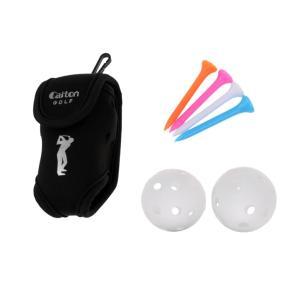 説明:クリップ付きゴルフボールホルダー、2つのゴルフボール、4つのティーを含むセット全体ゴルフボール...