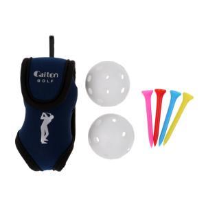 送料無料ゴルフボールバッグ ボールケース ポーチ 二個ゴルフボールと四本 ゴルフティーを含む全2色|stk-shop