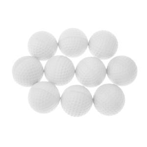 ノーブランド品  全6色 10個 PUスポンジ ゴルフ トレーニング ソフトボール ゴルフ 練習用ボール - 白|stk-shop
