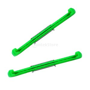 プラスチック 保護カバー ホッケースケート アイスホッケー フィギュアスケート スケートガード 6色選べる - 緑