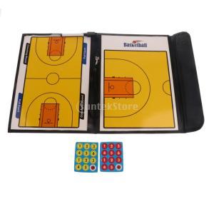 戦術研究ボード チーム指導 バスケットボール試合 磁気ボード クリップボード コーチボード 折り畳み...