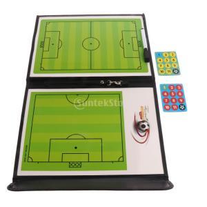 ポータブル 磁気ボード 折り畳み式 サッカー 試合指導 戦術研究 クリップボード コーチング
