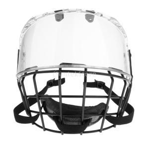 説明: 1ピースCE認定アイスホッケーヘルメットバイザーマスクシールド高密度衝撃耐性PCバイザーは防...