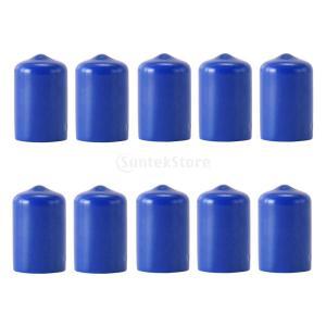 Flameer ゴム プール キュー先端 プロテクター ビリヤード チップ 保護カバー 全2色 - 青