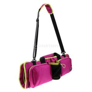 ヨガマットケース ヨガストレッチマット ヨガマット バッグ 軽量 収納ケース 肩掛けヒモ 通気性 メッシュタイプ 全2色 - 紫