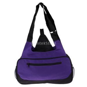 ヨガバッグ ヨガマットバッグ ヨガマットケース 大容量 旅行バッグ 女性のトートバッグ スポーツバッグ 全2色 - 紫