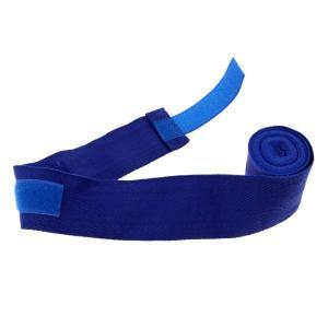バンテージ インナー ハンドラップ 手袋 プロテクター ボクシング ムエ タイ 包帯 全5色 - 青