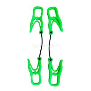 グローブホルダー グローブクリップ タオルやリガー手袋用 全2色 - 緑|stk-shop