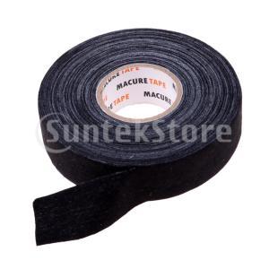 グリップテープ ホッケー ラクロス ハンティング 釣りなどに 自動接着性 不織布 粘着性グリップテープ 全2色 - ブラック