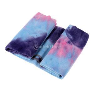 ヨガタオル 超極細繊維ヨガタオルヨガラグ 速乾性 滑り止め付き 心地良さ抜群 メッシュバッグ 付き 心地良さ抜群 マイクロファイバー  全7色 - 紫