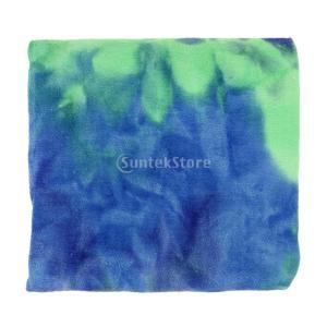 ヨガタオル 超極細繊維ヨガタオルヨガラグ 速乾性 滑り止め付き 心地良さ抜群 メッシュバッグ 付き 心地良さ抜群 マイクロファイバー  全7色 - 青