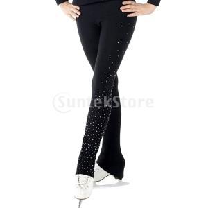 説明: 女子女子アイスフィギュアスケート練習ズボンタイツ防水性、高弾性、ソフトで快適なフリースインナ...