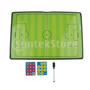 サッカーコーチングボード折り畳み式戦略教育用クリップボードW /マグネット