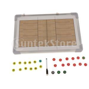 ポータブルバレーボールコーチングボード磁気サッカー戦略クリップボード