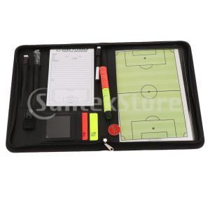 説明: プロ審判員戦略委員会:赤黄色の警告カード、スコアシート、笛、マーキングペン、27個の磁気マー...