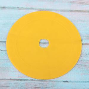 カラフルなスポーツスポットディスクマーカーフラットフィールドコーンサッカーフロアスポット黄色
