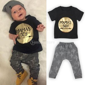 ノーブランド品 新生児 幼児 赤ちゃん かわいい 綿 服 Tシャツトップ パンツ 上下セット 衣装 贈り物 全2パタン4サイズ選べる - #2, 70 stk-shop
